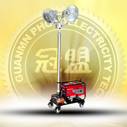 Full automatic lift work lights